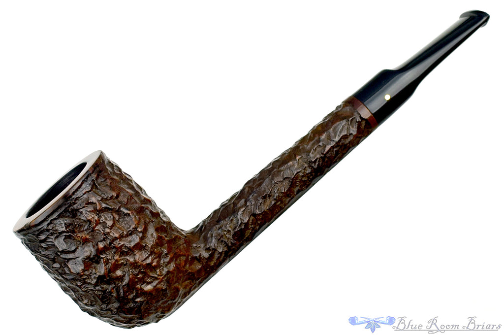 Blue Room Briars is proud to present this Brigham 199 Rusticated Lovat (Rock Maple Filter) Sitter Estate Pipe
