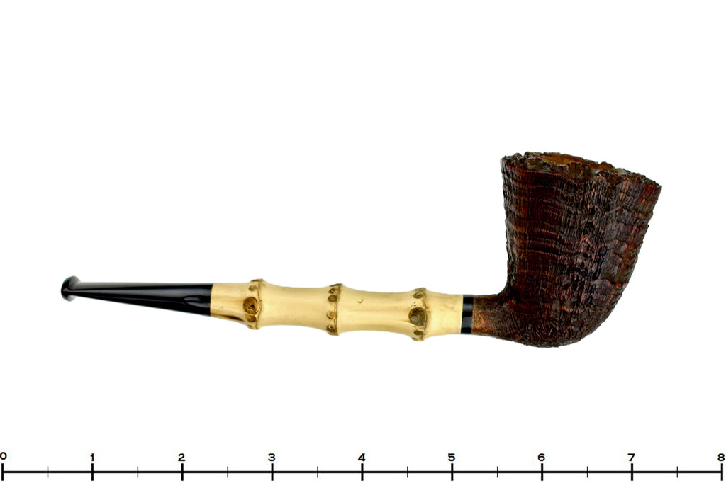 Blue Room Briars is proud to present this Doug Finlay Pipe Ring Blast Bamboo Dublin with Plateau