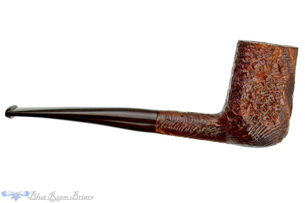 Blue Room Briars is proud to present this Ashton Quaint XX 19 1/8 Bent Sandblast Panel Billiard Sitter with Replacement Stem Estate Pipe