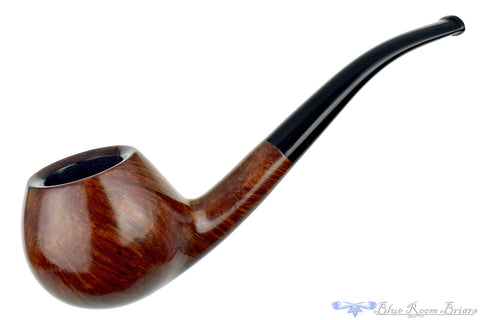 Ashton Quaint XX 19 1/8 Bent Sandblast Panel Billiard Sitter with Replacement Stem Estate Pipe