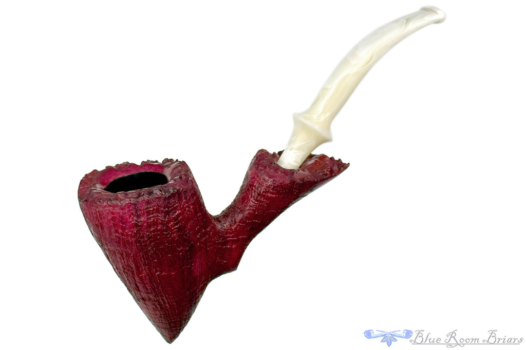 Blue Room Briars is proud to present this Blue Room Briars Pipe 5620 1/2 Bent Sandblast Freehand with Plateaux