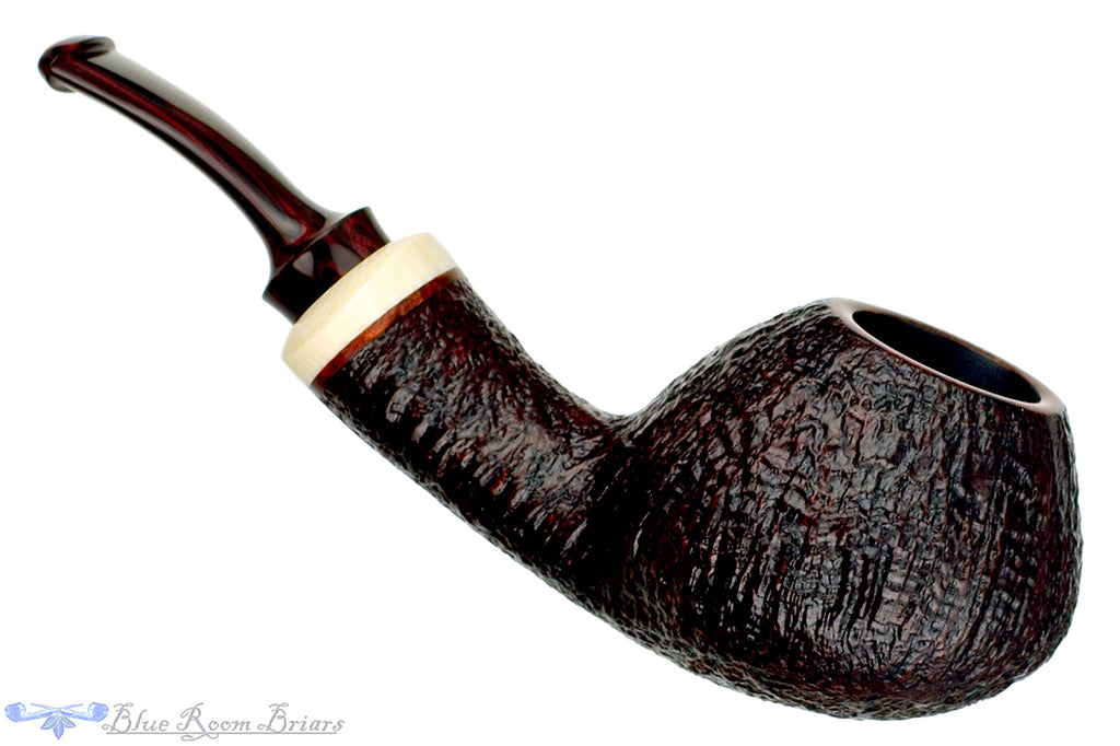 Alexander Tupitsyn (2018 Make) 1/4 Bent Sandblast Tomato UNSMOKED Estate Pipe