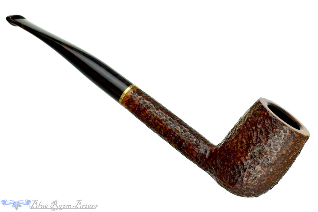 Blue Room Briars is proud to present this Savinelli Bings Favorite Rusticated Billiard Sitter (6mm Filter) with Brass Estate Pipe