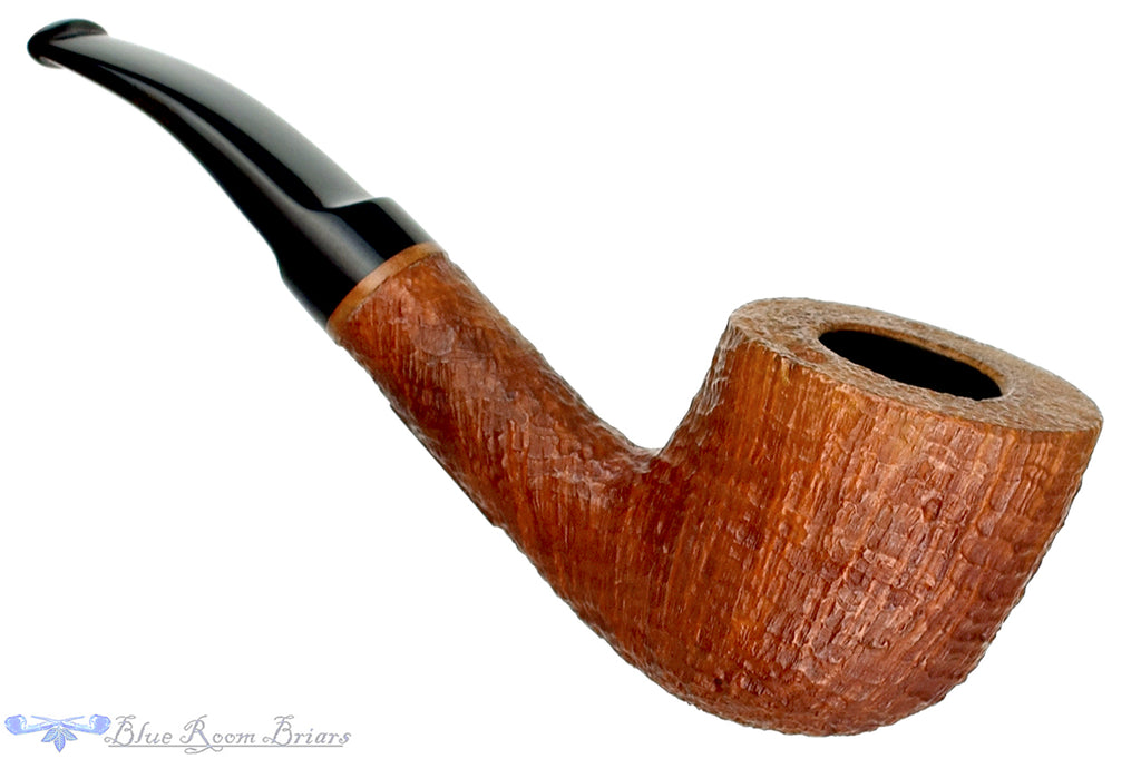 Blue Room Briars is proud to present this RC Sands 1/4 Bent Sandblast Pot Estate Pipe