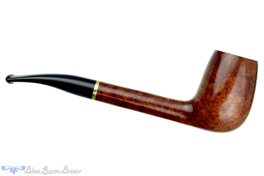 Blue Room Briars is proud to present this Georg Jensen 22 Bent Egg with Brass Estate Pipe