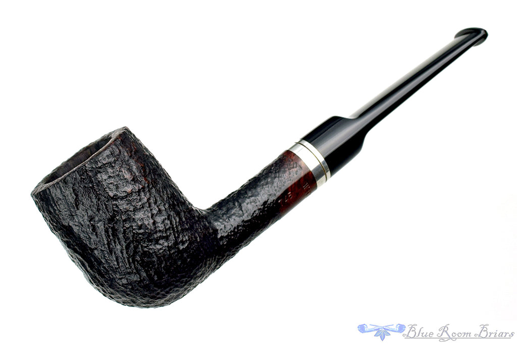 Blue Room Briars is proud to present My Own Blend 745 Sandblast Billiard with Nickel Estate Pipe