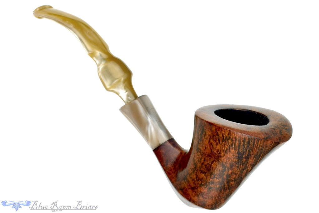 Blue Room Briars is proud to present this Ben Wade Golden Walnut 1/2 Bent Smooth Freehand Estate Pipe