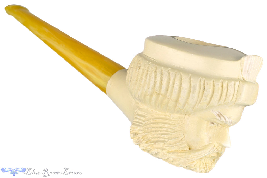 Blue Room Briars is proud to present this Meerschaum Straight Sultan UNSMOKED Estate Pipe