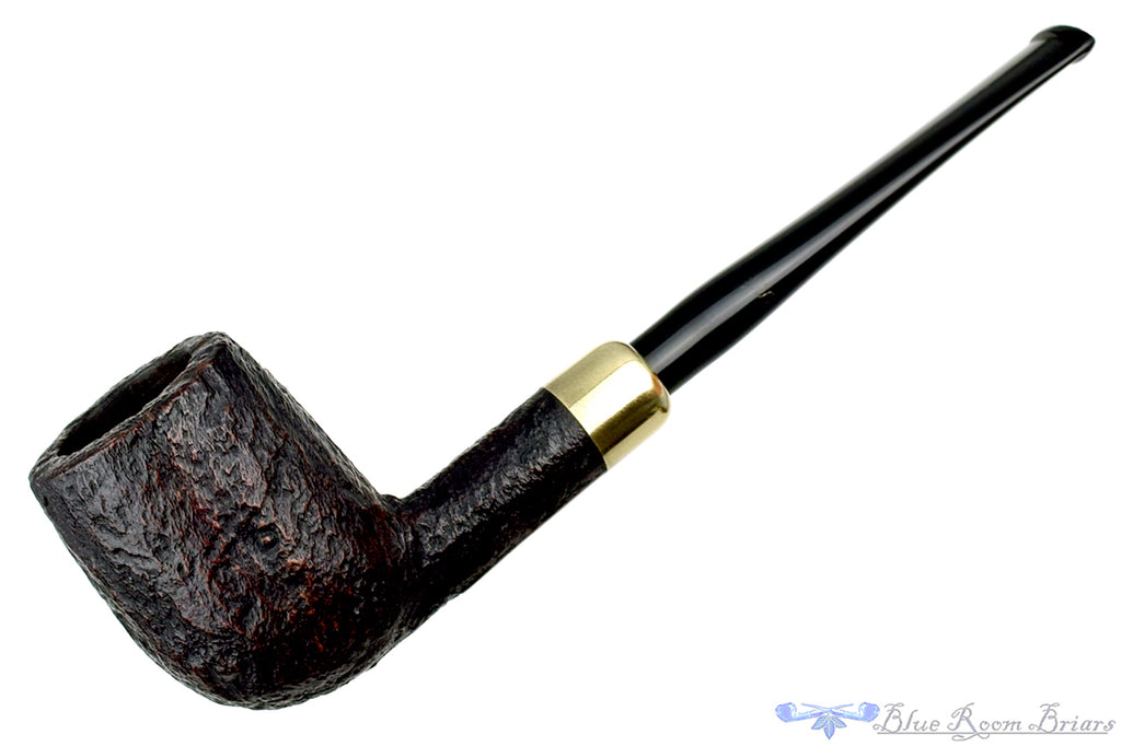 Blue Room Briars is proud to present this Stanwell DM (1989 Make) Sandblast Billiard with Brass and Military Mount Estate Pipe
