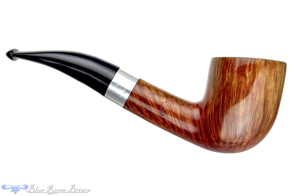 Blue Room Briars is proud to present this Savinelli Linea Artisan 1/4 Bent Billiard (6mm Filter) with Silver Estate Pipe