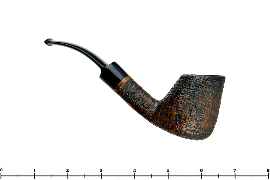 Blue Room Briars is proud to present this Karl Erik Handmade Bent Sandblast Volcano Estate Pipe