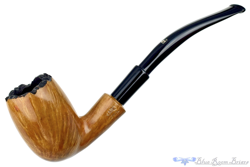 Blue Room Briars is proud to present this Karl Erik Large Bent Egg with Plateau UNSMOKED Estate Pipe