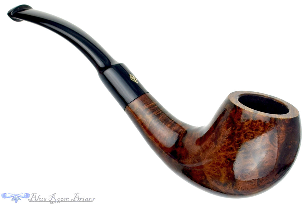 Blue Room Briars is proud to present this BBB Christmas 1982 Special Make 1/4 Bent Egg Estate Pipe
