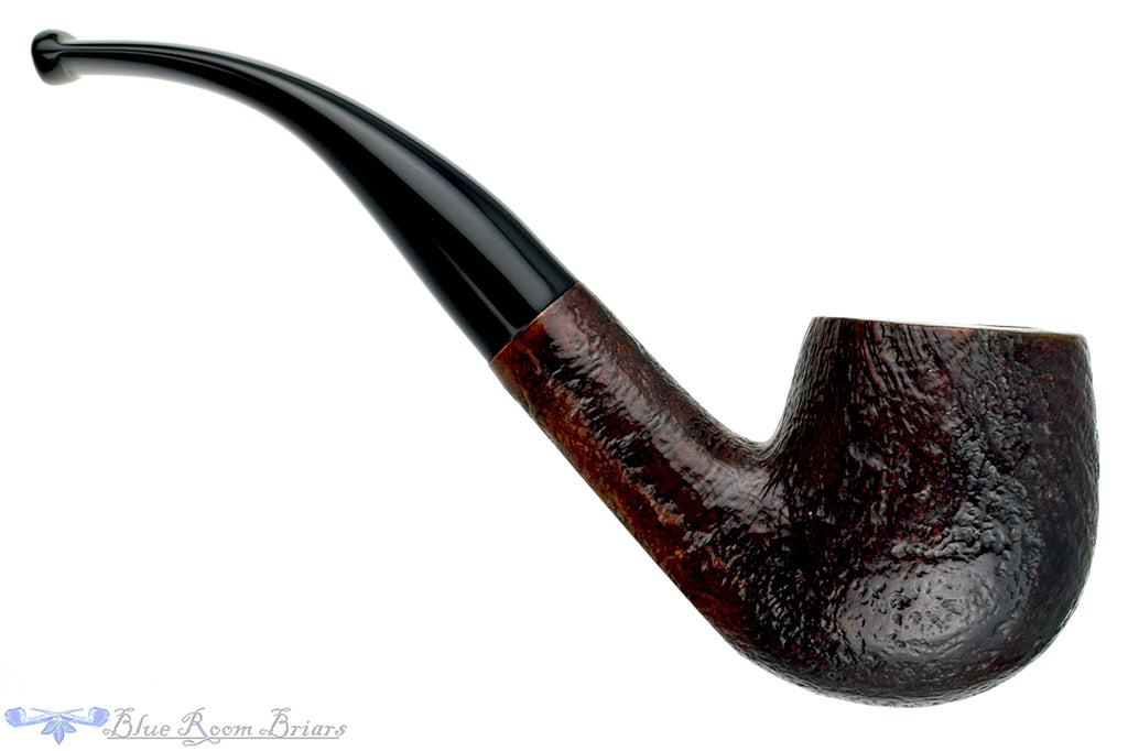 Blue Room Briars is proud to present this Captain Black Yeoman 1/2 Bent Sandblast Billiard Estate Pipe