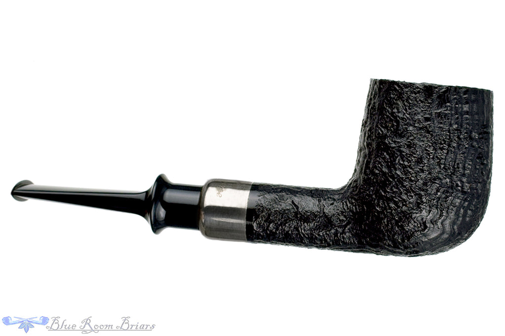 Blue Room Briars is proud to present this Mr. Andersen Perfect Pipe Sandblast Billiard with Silver Estate Pipe