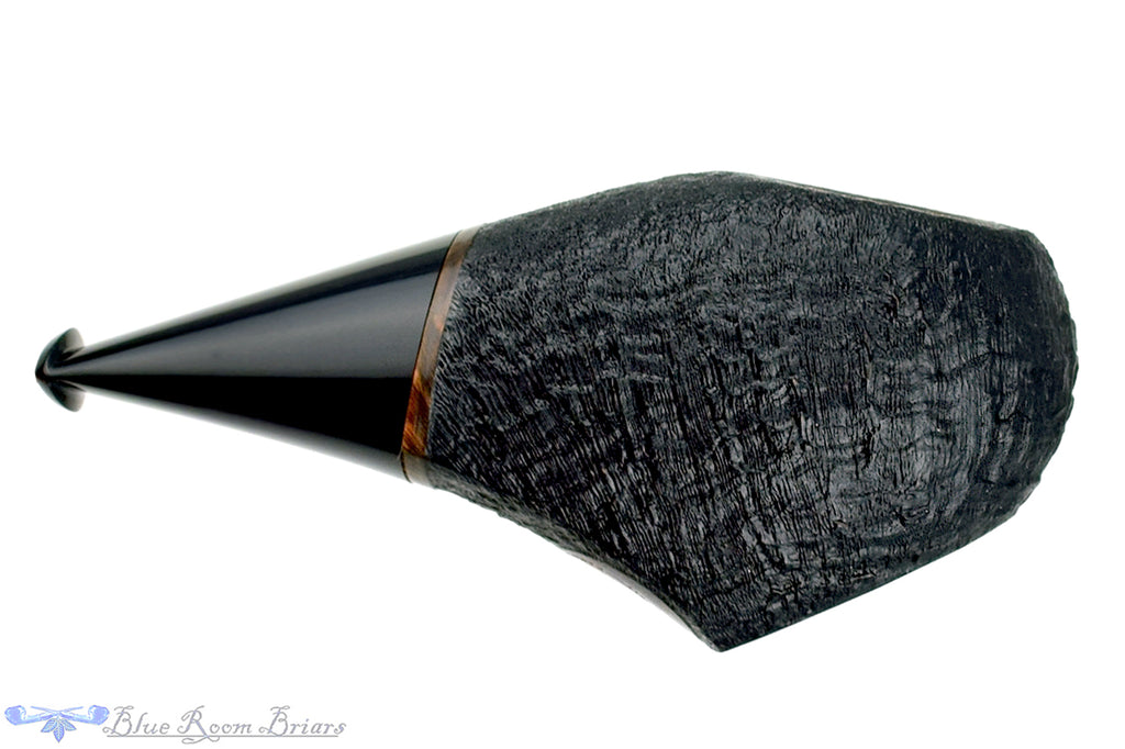 Blue Room Briars is proud to present this Dirk Heinemann Pipe Sandblast Black Olive Sitter