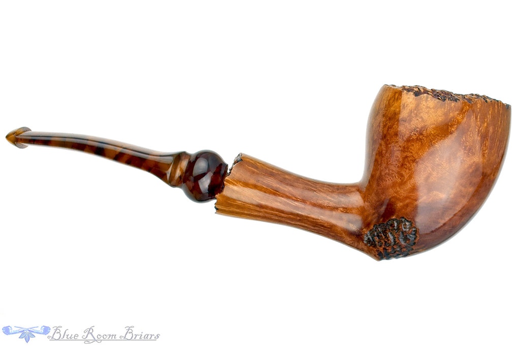 Blue Room Briars is proud to present this Tim West Acorn with Plateaux UNSMOKED Estate Pipe