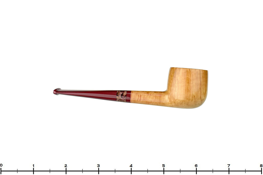 Blue Room Briars is proud to present this Michail Kyriazanos Pipe Smooth Pale Pot with Exotic Wood