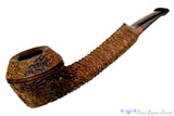Blue Room Briars is proud to present this Andrea Gigliucci Pipe Carved Stemless 1/4 Bent Bulldog with Brindle