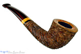 Blue Room Briars is proud to present this Andrea Gigliucci Pipe Carved 1/4 Bent Dublin with Boxwood and Brindle