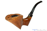 Sven Lar Sculpture by Michael Kabik CC 3/4 Bent Partial Rusticated Freehand Estate Pipe Blue Room Briars, smooth, plateau, straight grain, freehand, danish freehand, sculpted, perfect grain, american, usa, us, made in the usa, united states, danish stem, danish ferrule, ebonite ferrule, three quarters bent, bent, natural, Michael Kabik, Sven-lar, production pipe, factory pipe, budget pipe, briar, briar pipe, tobacco pipe, wood pipe, wooden pipe, briar-pipe, smoking pipe, smoking hobby, ebonite, vulcanite, pipe stem, pipe mortise, stem, mortise, button, draft hole, grain, estate pipe, estate, refurbished, used pipe, refurbished pipe, estate, briar, briar pipe, budget pipe, tobacco pipe, old pipe, wood pipe, wooden pipe, smoking pipe, smoking hobby, ebonite, vulcanite, pipe stem, pipe mortise, stem, mortise, button, draft hole, grain , artisan, artisan pipe, new pipe, new, smoking hobby, ebonite, vulcanite, pipe stem, pipe mortise, stem, mortise, button, draft hole, grain, hand made, handmade, hand-made, hand crafted, handcrafted, hand-crafted, high grade, high-grade, highgrade, hand carved, hand-carved, handcarved, hand cut, handcut, hand-cut