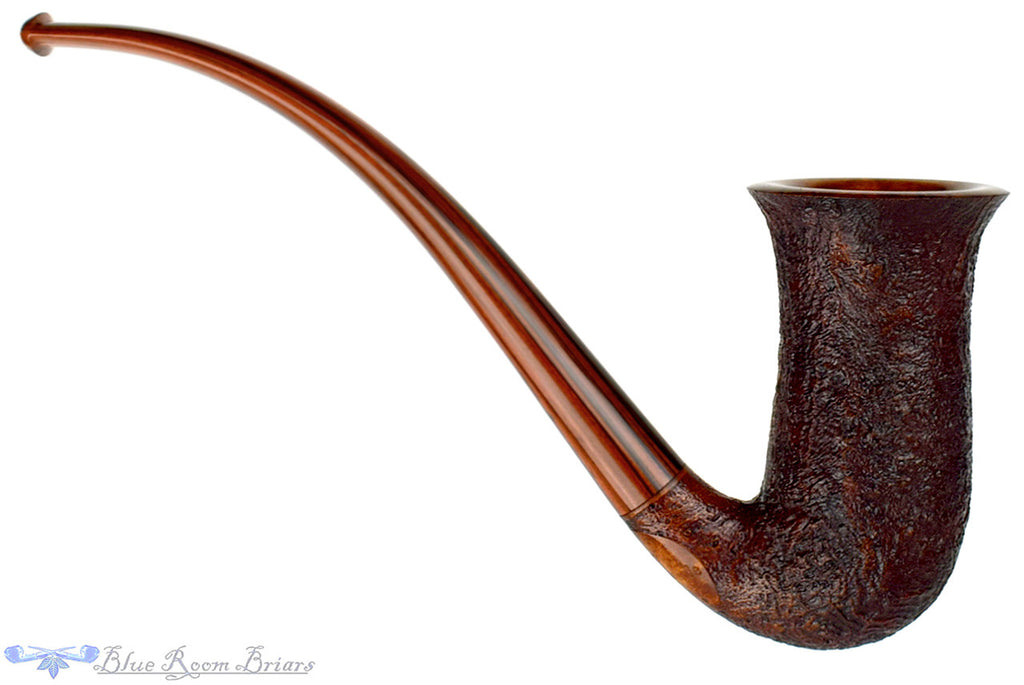 Jesse Jones Pipe 3/4 Bent Sandblast Fugue, Blue Room Briars, tall, stacked, stack, chimney, sandblast, dark blast, three quarter bent, bent, rounded rim, smooth rim, brindle, cumberland, original, usa, us, america, american, united states, made in the usa, artisan pipe, new pipe, production pipe, factory pipe, budget pipe, briar, briar pipe, tobacco pipe, wood pipe, wooden pipe, briar-pipe, smoking pipe, smoking hobby, ebonite, vulcanite, pipe stem, pipe mortise, stem, mortise, button, draft hole, grain, estate pipe, estate, refurbished, used pipe, refurbished pipe, estate, briar, briar pipe, budget pipe, tobacco pipe, old pipe, wood pipe, wooden pipe, smoking pipe, smoking hobby, ebonite, vulcanite, pipe stem, pipe mortise, stem, mortise, button, draft hole, grain , artisan, artisan pipe, new pipe, new, smoking hobby, ebonite, vulcanite, pipe stem, pipe mortise, stem, mortise, button, draft hole, grain, hand made, handmade, hand-made, hand crafted, handcrafted, hand-crafted, high grade, high-grade, highgrade, hand carved, hand-carved, handcarved, hand cut, handcut, hand-cut