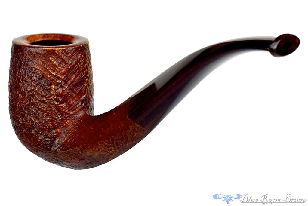 Jesse Jones Pipe 1/2 Bent Sandblast Diamond Shank Billiard