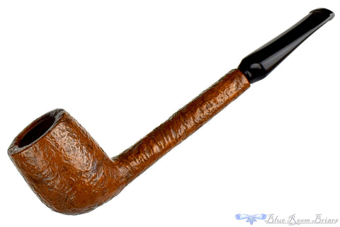 Italian 3/4 Bent Partial Rusticated Apple with Acrylic Estate Pipe
