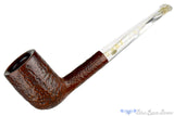 GBD Virgin Prehistoric 135 (1960s Make) Sandblast Billiard Sitter with Perspex Estate Pipe