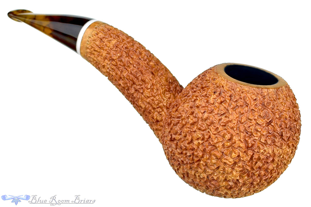 Blue Room Briars is Proud to Present this Dr. Bob Pipe Rusticated Hawkbill