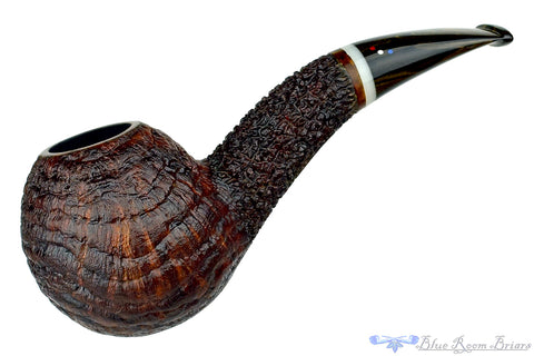 Dr. Bob Pipe Rusticated Hawkbill with Redwood Burl and Acrylic Insert