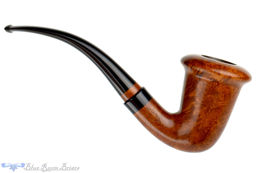 Blue Room Briars, Butz-Choquin Calabash De Luxe Estate Pipe, smooth pipe, sherlock holmes pipe, bent pipe, quarter bent pipe, one quarter bent pipe, st claude pipe, french pipe, france, production pipe, factory pipe, budget pipe, briar, briar pipe, tobacco pipe, wood pipe, wooden pipe, briar-pipe, smoking pipe, smoking hobby, ebonite, vulcanite, pipe stem, pipe mortise, stem, mortise, button, draft hole, grain, estate pipe, estate, refurbished, used pipe, refurbished pipe, estate, briar, briar pipe, budget