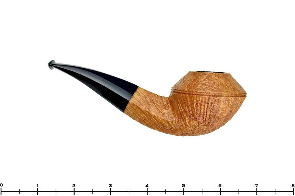 Blue Room Briars is proud to present this Trey Rice Pipe 1/4 Bent Tan Blast Bulldog