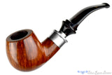 Blue Room Briars is proud to present this Ser Jacopo Delecta La Fuma 1/4 Bent Large Apple with Silver Bands Estate Pipe