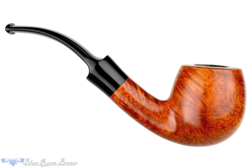 Blue Room Briars, Stanwell Handmade 84 1/2 Bent Large Apple (9mm Filter) Unsmoked Estate Pipe, smooth pipe, danish pipe, danish estate pipe, stanwell estate pipe, saddle stem, saddled stem pipe, unsmoked pipe, denmark, bent pipe