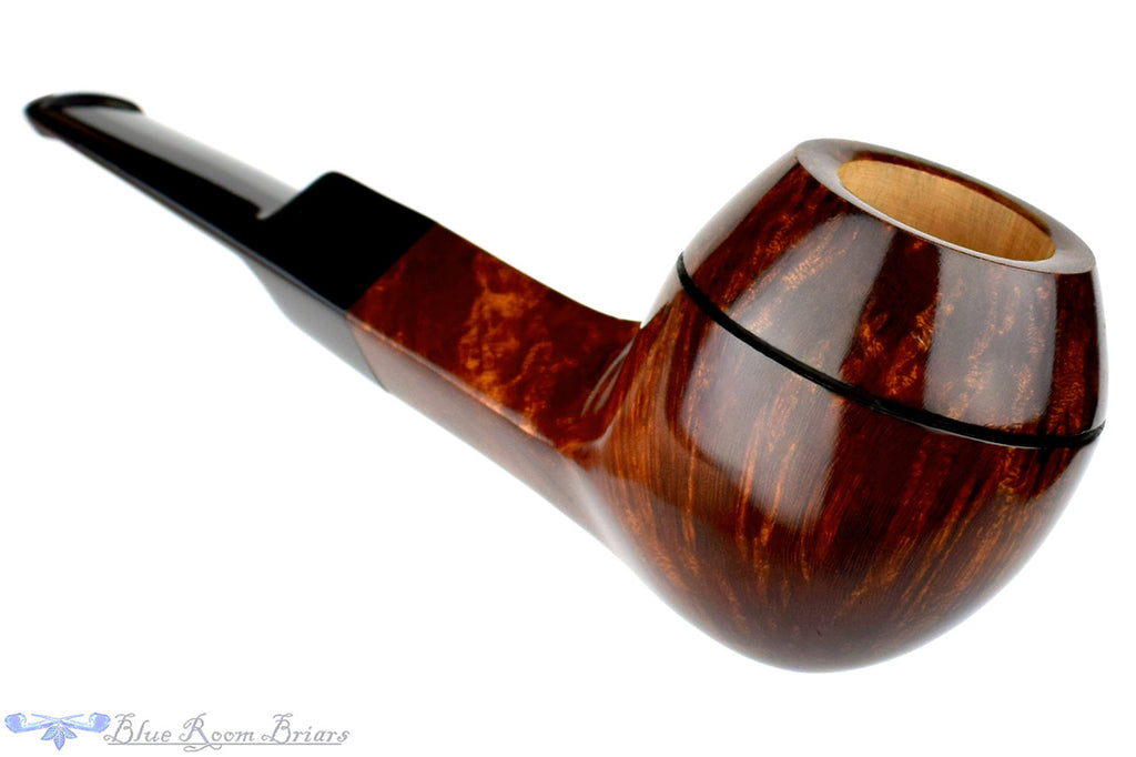 L'Anatra Smooth Bulldog (9mm Filter) Unsmoked Estate Pipe, Blue Room Briars