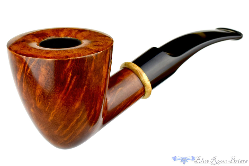 Todd Harris Pipe 1/4 Bent Smooth Dublin with Box Elder Ring, Blue Room Briars
