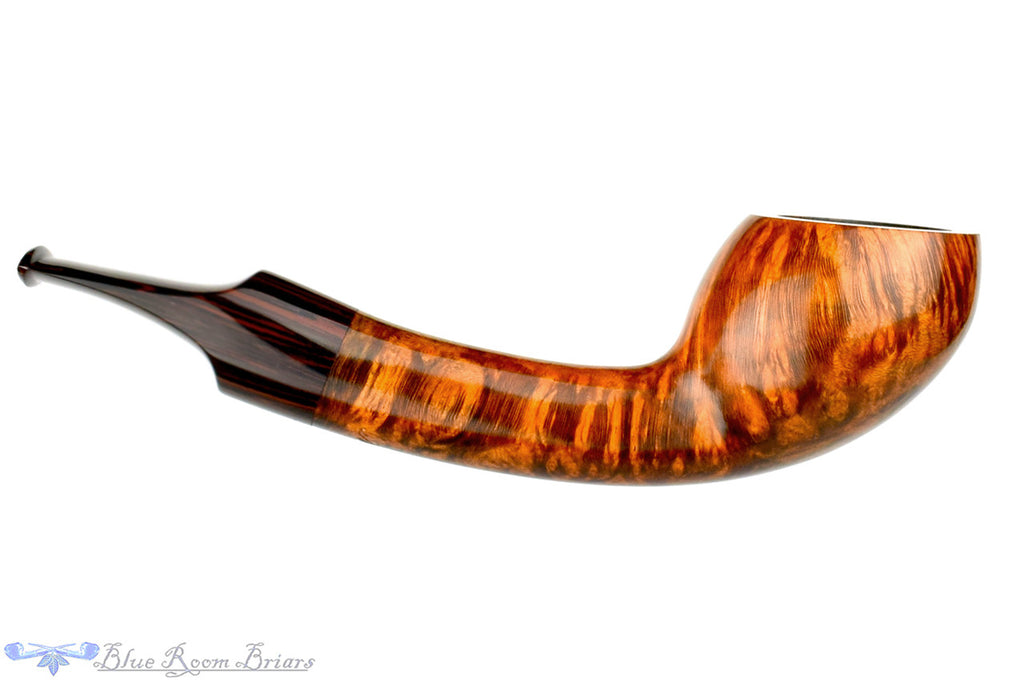 Benjamin Westerheide Pipe 1/8 Bent Tiger Striped Scoop at Blue Room Briars