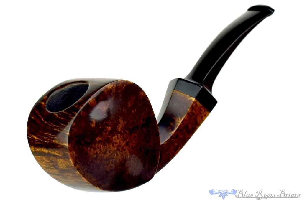 Blue Room Briars is proud to present this Joe Hinkle Pipe 1/4 Bent Smooth Blowfish