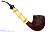 Jesse Jones Pipe Titan 1/2 Bent Sandblast Bamboo Billiard at Blue Room Briars