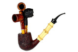 Jesse Jones Pipe Titan 1/2 Bent Sandblast Bamboo Billiard