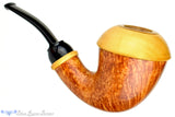 Blue Room Briars is proud to present this Sergey Cherepanov Pipe Briar Calabash with Boxwood