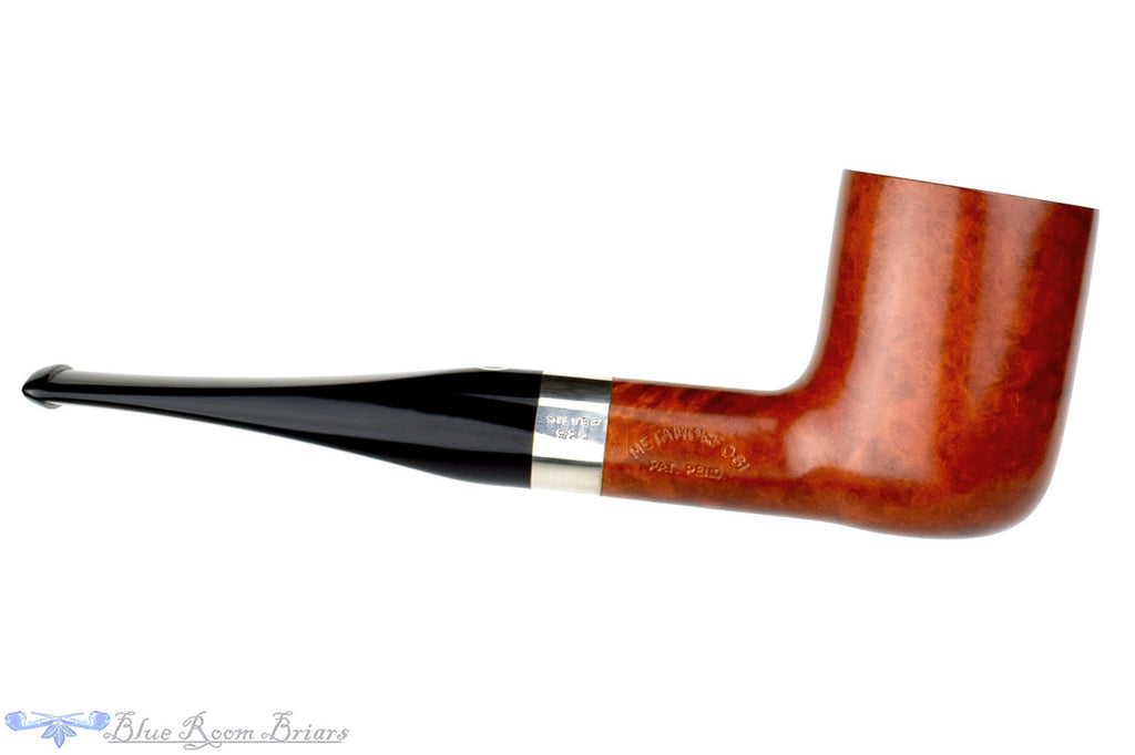 T. Cristiano Pipe Metamorfosi A501 (9mm Filter) Sitter Billiard with Silver at Blue Room Briars