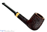 Blue Room Briars is proud to present this Brian Madsen Pipe Rusticated Billiard with Box Elder Burl Insert