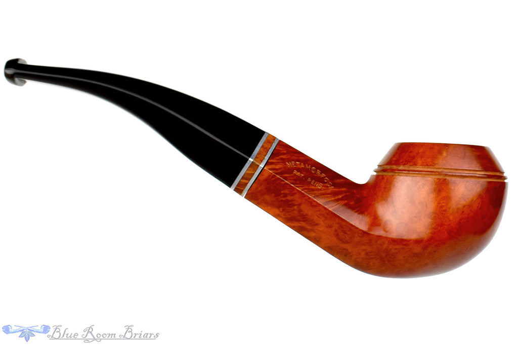 T. Cristiano Pipe Calabresi Metamorfosi (9mm filter) 1/4 Bent Bulldog with Briar Band (1) at Blue Room Briars