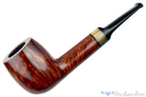Blue Room Briars is proud to present this Jerry Crawford Pipe Smooth Billiard with Buffalo Horn