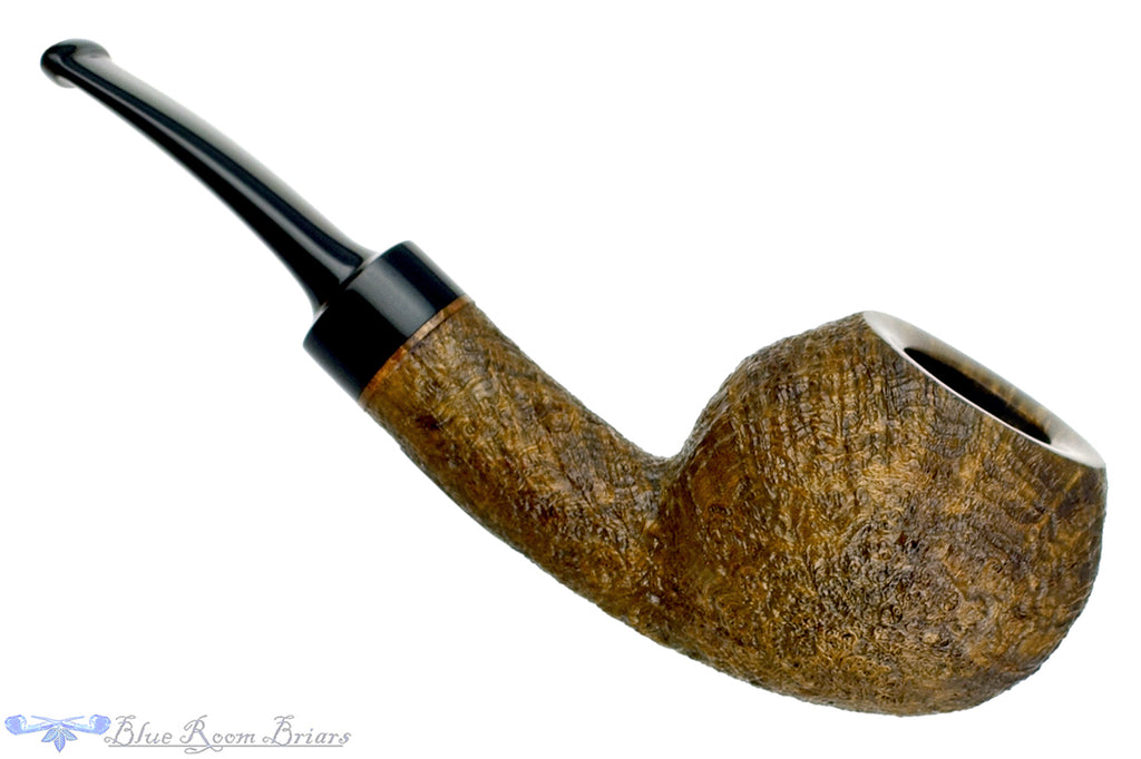 Blue Room Briars is proud to present this Jerry Crawford Pipe 1/8 Bent Sandblast Tomato