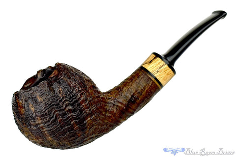 Jerry Crawford Pipe Black Blast Billiard with Masur Birch and Brindle