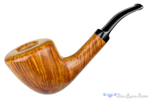 David S. Huber Pipe 1/2 Bent Straight Grain Very Large Freehand with Plateau and Crown