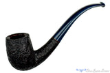 Jesse Jones Pipe 1/2 Bent Black Blast Billiard with Blue Brindle